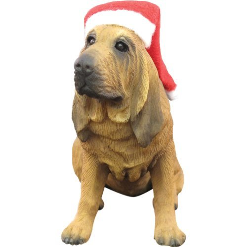 Sandicast Bloodhound with Santa Hat Christmas Ornament by Sandicast