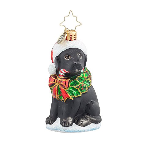 Christopher Radko Lucky Black Labrador Gem
