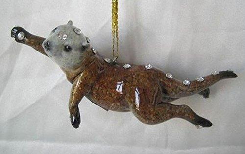 New December Diamonds North American Sea Otter Zoo Christmas Tree Ornament