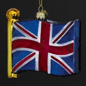 Kurt Adler 4-1/2-Inch Noble Gems Flag of United Kingdom Ornament