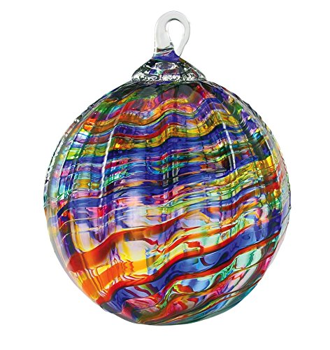 Glass Rainbow Kaleidoscope Globe Ornament