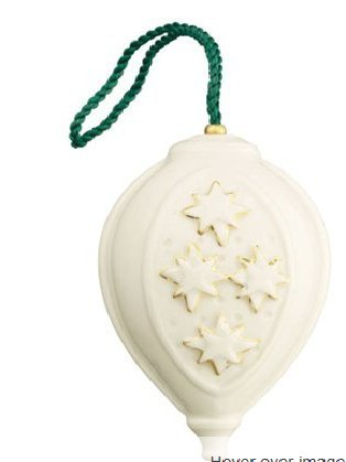 Belleek 4119 Star Bauble Ornament, 3.5-Inch, White