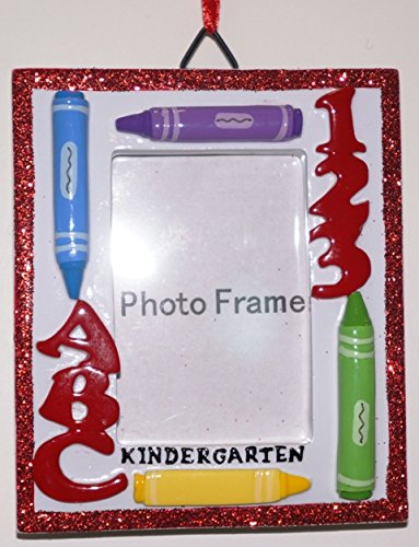 Kindergarten Photo Frame Personalized Christmas Tree Ornament