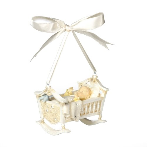 Enesco Foundations Baby's First Christmas Ornament by Artist Karen Hahn, 2.28-Inch