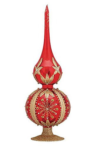 Waterford 12″ Red Snowflake Tree Topper