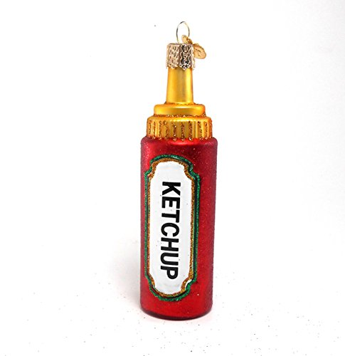 Old World Christmas Ketchup Squeeze Bottle Ornament