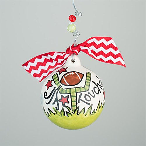 Glory Haus Football Ball Ornament, 4-inch