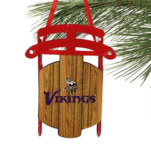 NFL Minnesota Viking Sled Ornament,3.5″ Tall, Purple