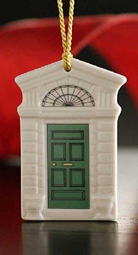 Belleek 4240 Georgian Green Door Ornament, 3.5-Inch, White