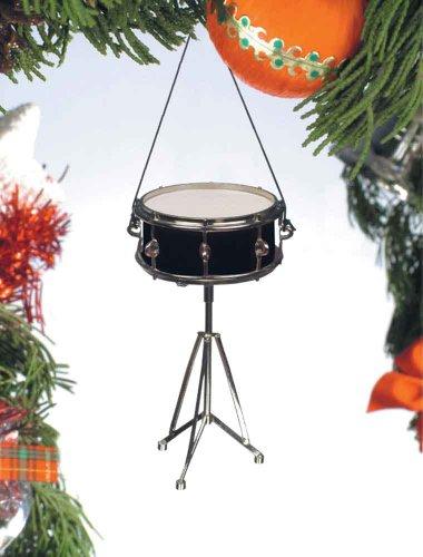 Music Treasures Co. Black Snare Drum Ornament