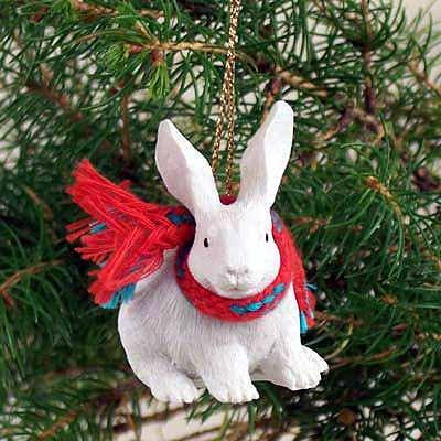 Conversation Concepts Rabbit White Original Ornament