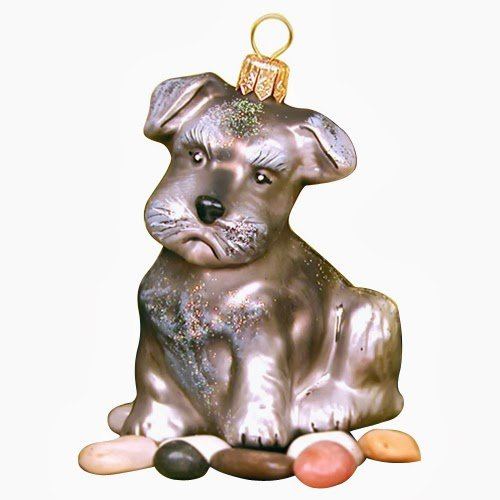Ornaments To Remember Schnauzer (Gray) Hand-Blown Glass Ornament