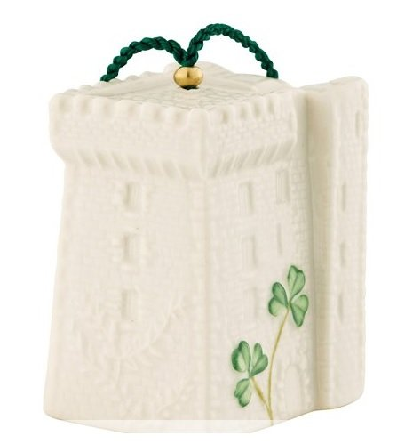 Belleek 4122 Christmas Blarney Castle Bell Ornament
