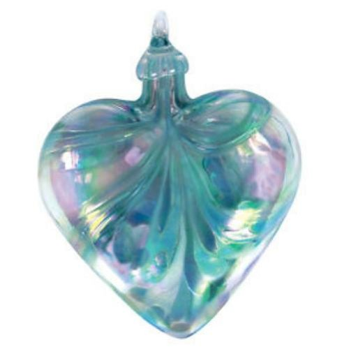 Glass Eye Studio Ornament Heart Jade Mosaic