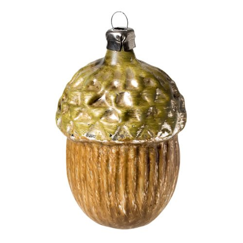 "Vintage mouthblown Christmas Glass ornament ""Acorn"" by MAROLIN® Germany"