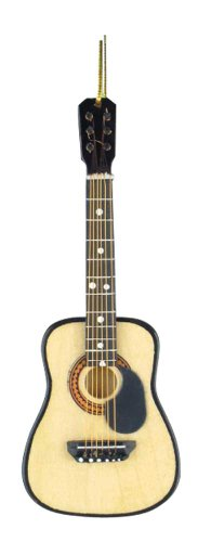 Music Treasures Co. Steel String Guitar W/Pick Guard Christmas Ornament