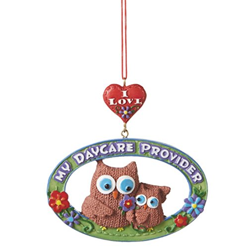 Midwest CBK I Love My Daycare Provider Owl Resin Christmas Ornament