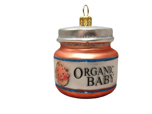 Ornaments to Remember: BABY FOOD JAR Christmas Ornament (Blonde Hair)
