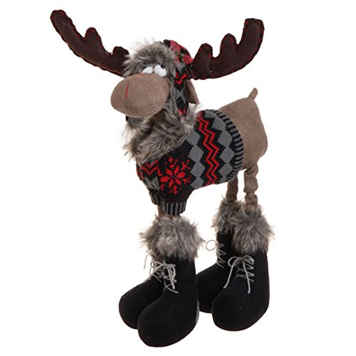 RAZ Imports – 18″ Moose Christmas Display Piece