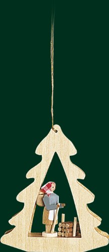 Hanging Christmas Tree Shaped Ornament Forest Woman, 3.4 Inches