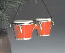 Music Treasures Co. Red Bongo Drums Christmas Ornament