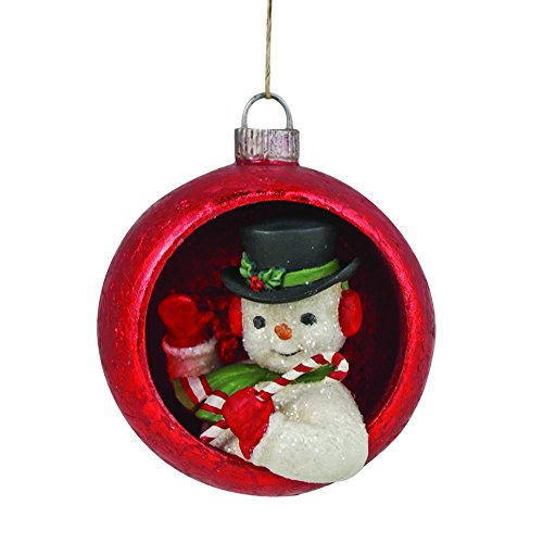 Bethany Lowe Snowman Inset Ornament