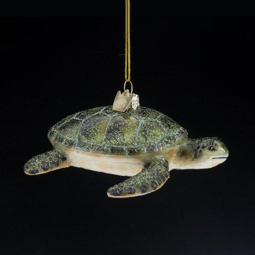 Kurt Adler 4-Inch Noble Gems Glass Sea Turtle Ornament
