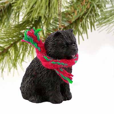 Chow Chow Miniature Dog Ornament – Black