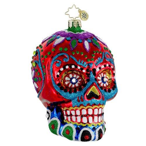 Christopher Radko Glass La Calavera Dia de Los Muertos Christmas Ornament #1015959