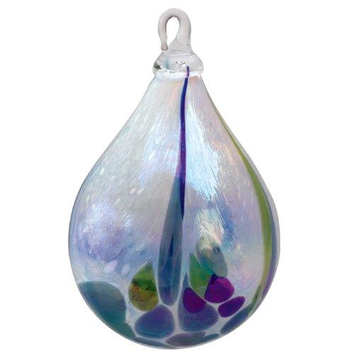 Glass Eye Studio Hand Blown Glass Raindrop Ornament – Rainforest