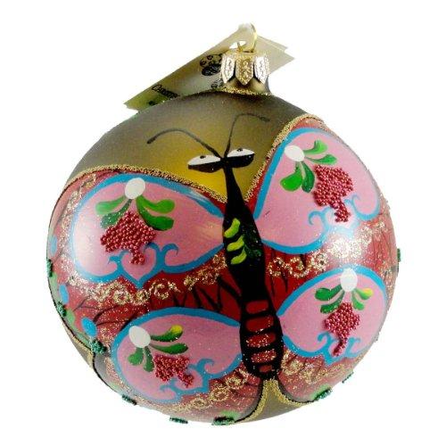 Christina's World BUTTERFLY KITE Blown Glass Christmas Ball Ornament BUT668