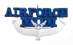 8304 Air Force Mom Hand Personalized Christmas Ornament