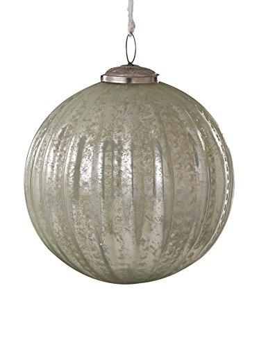 Sage & Co. Glass Beaded Ball Ornament, Celedon Green, Medium