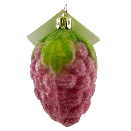 David Strand Designs RASPBERRY Blown Glass Fruit Christmas DSD0807301