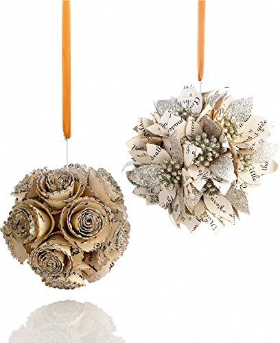 Holiday Lane Set of 2 Flower Cluster Ornaments