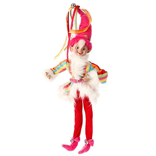 Raz Imports fun elf pink candy sprinkles 16″