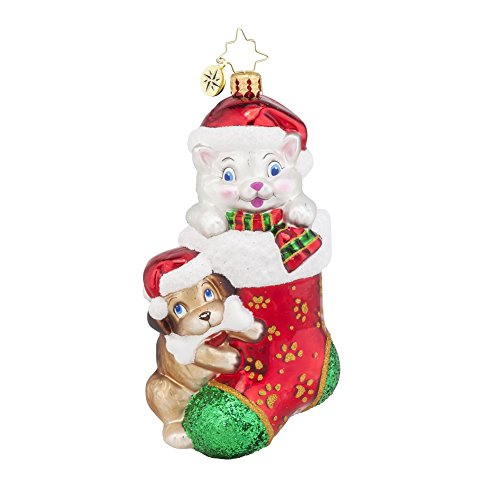 Christopher Radko Pip and Paws Dog & Cat Animal Charity Awareness Christmas Ornament – New for 2015