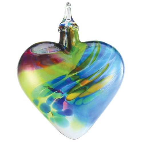 Glass Eye Studio Hand Blown Glass Heart Ornament – Chameleon