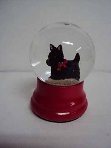 "Miniature ""Black Scottie Dog"" Snowglobe"