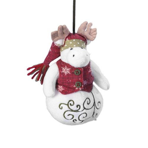 Boyd's Bears by Enesco Collectible Slippy Snowbert Moose in Vest Plush Ornament