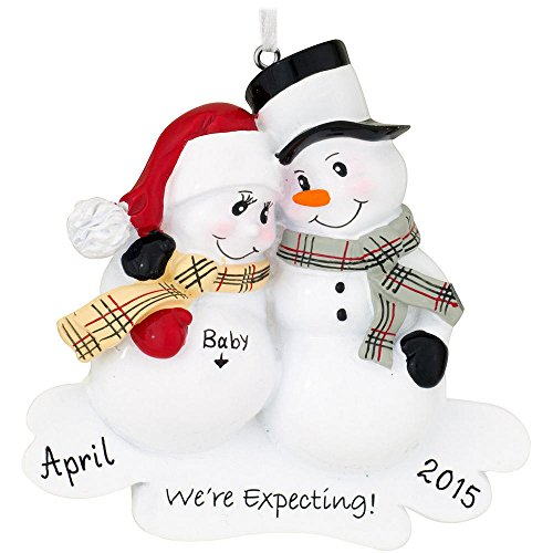 We're Expecting Baby Family of 2 Personalized Christmas Tree Ornament