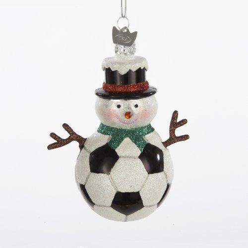 Kurt Adler 3.5″ Noble Gems Snowman Soccer Ball Ornament