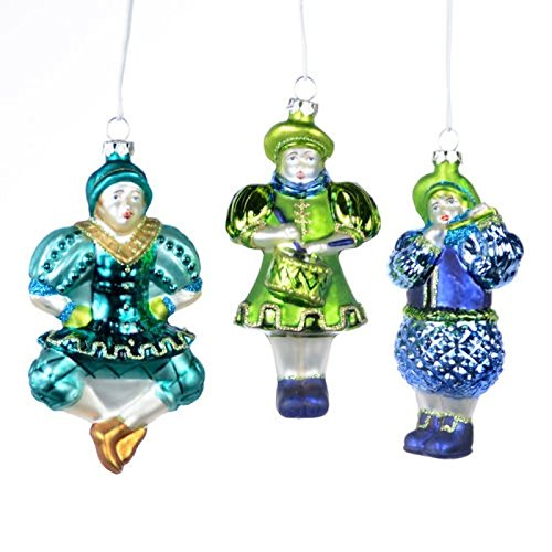 Set 3 4.5″ Russian Dancer Dancing Doll Glass Christmas Ornament