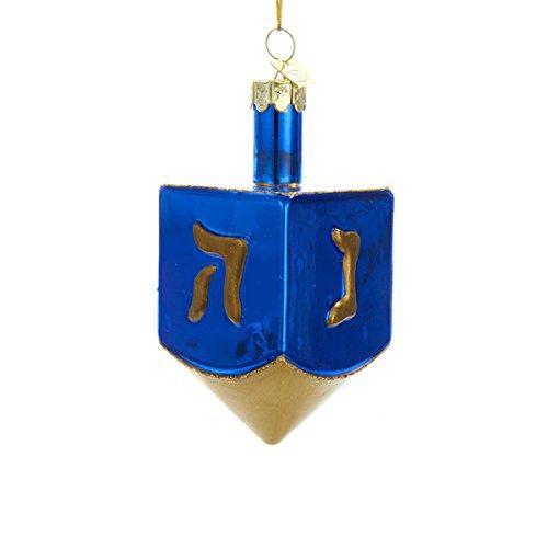 Kurt Adler Noble Gems Glass Dreidel Ornament, 4-Inch