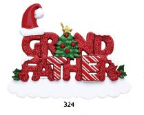 8353 Grandfather Hand Personalized Christmas Ornament