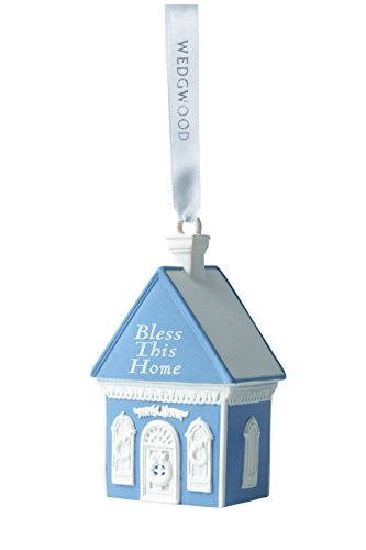 Wedgwood Bless This Home Christmas Ornament, Blue