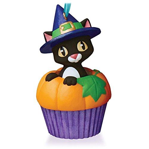 Punkin' Kitty Keepsake Cupcake Ornament 2015 Hallmark