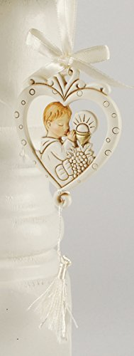 Blossom Bucket 151-71707 Boy Communion Heart Ornament, 2-3/4″