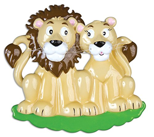 Personalized Christmas Ornament FAMILY SERIES – LION FAMILY PRIDE COUPLE