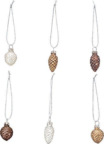 Pinecone Mini-Glass Ornaments